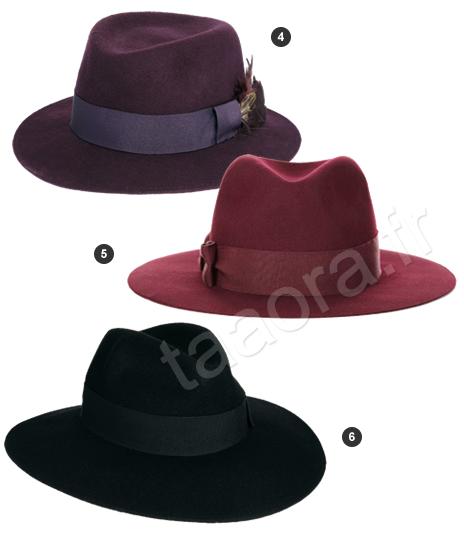 chapeaux en feutre taaora blog mode tendances looks. Black Bedroom Furniture Sets. Home Design Ideas