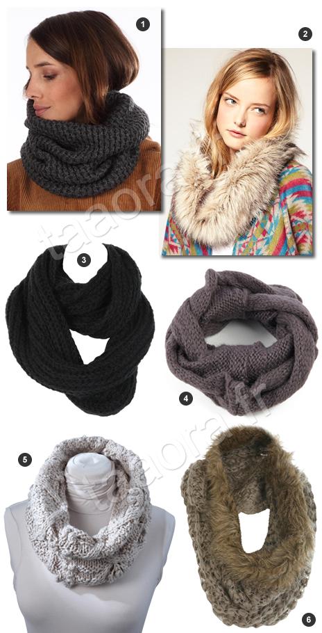 charpes tube en tricot et fausse fourrure taaora blog mode tendances looks. Black Bedroom Furniture Sets. Home Design Ideas