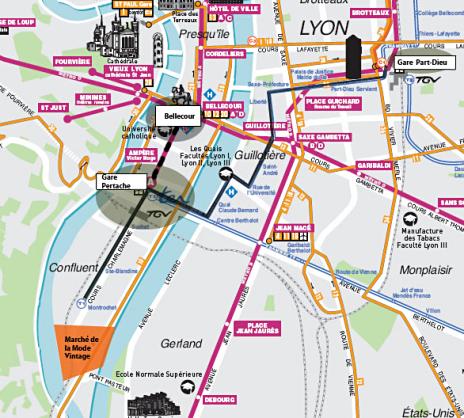 Plan Marché de la Mode Vintage Lyon