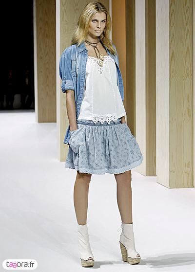 Comment porter la chemise en jean taaora blog mode - Chemise en jean femme comment la porter ...