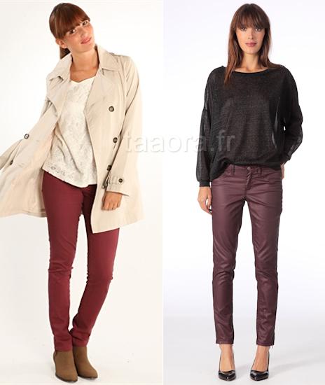 Avec quoi porter un jean bordeaux taaora blog mode tendances looks - Comment porter un pantalon beige ...