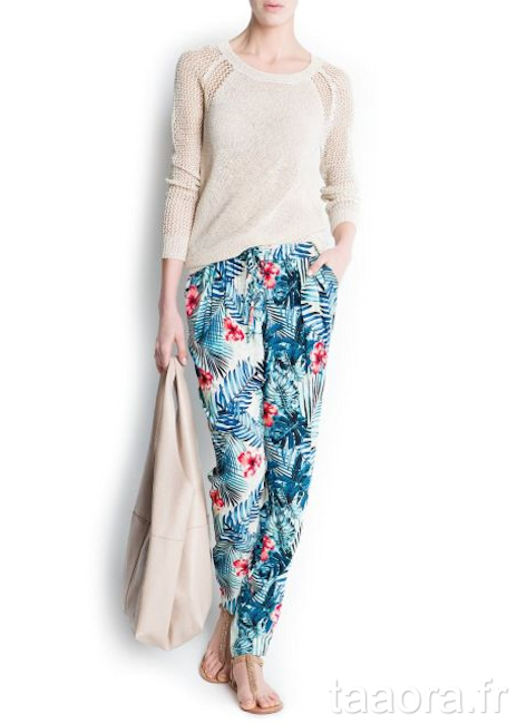 Comment porter l imprim tropical 8 inspirations looks taaora blog mode tendances looks - Comment porter un pantalon beige ...