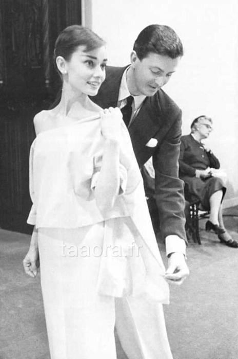 Audrey Hepburn avec Hubert de Givenchy