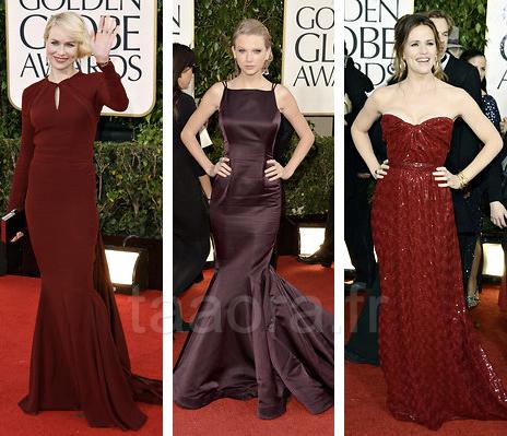 Robes Golden Globes 2013