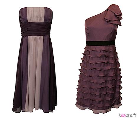 Robes violettes