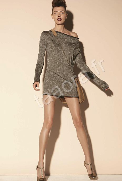 Robe pull pailletée