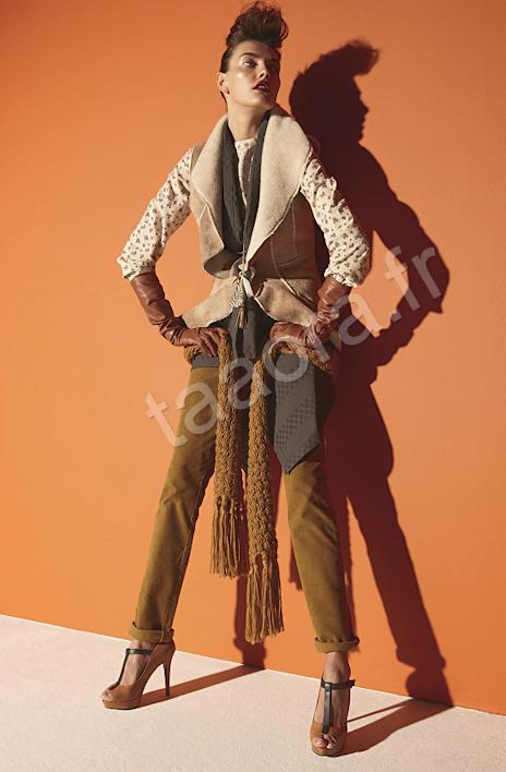 Blouson peau lainée sans manches