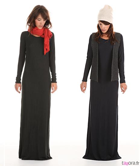 Longue robe hiver