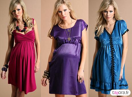 Taille empire colorée : où en trouver ? robes de soirée maternité