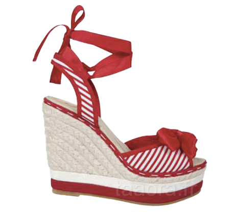 Chaussures rouges blancs