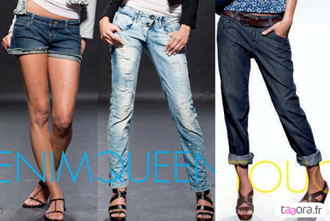 Short et jeans en denim