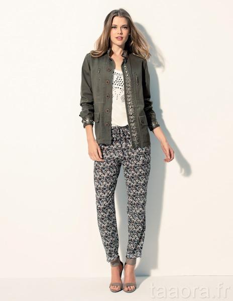 Bon look t 2013 pantalon imprim blouson militaire taaora blog mode tendances looks - La redoute rideaux bonne femme ...