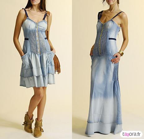Robes en jean délavé