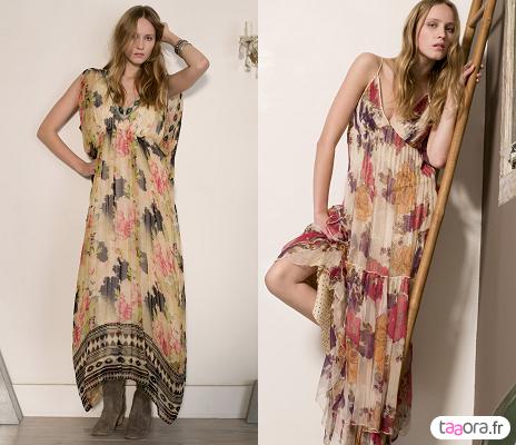 Robes longues imprimés fleuris