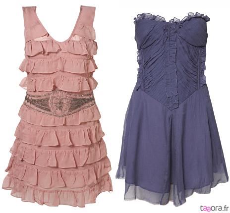Bas et robe courte