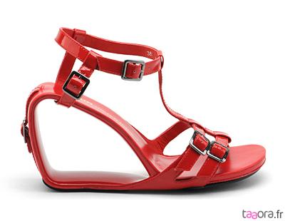 Sandales Möbius rouges