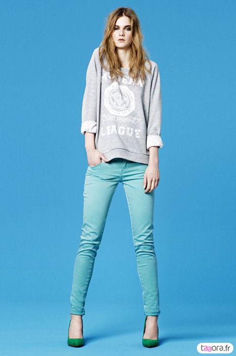 pantalons zara tendance color block taaora blog mode tendances looks. Black Bedroom Furniture Sets. Home Design Ideas