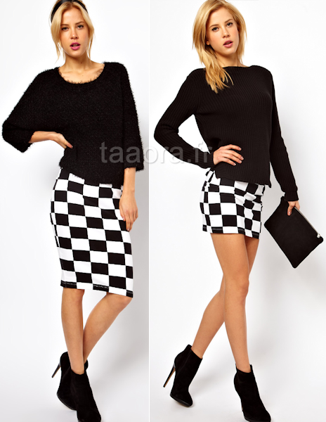 3c783e6f6b08 Jupe noir et blanc jupe courte dentelle