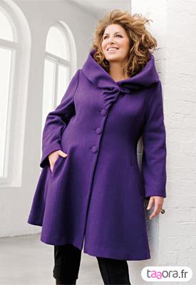 Manteau grande taille femme rouge
