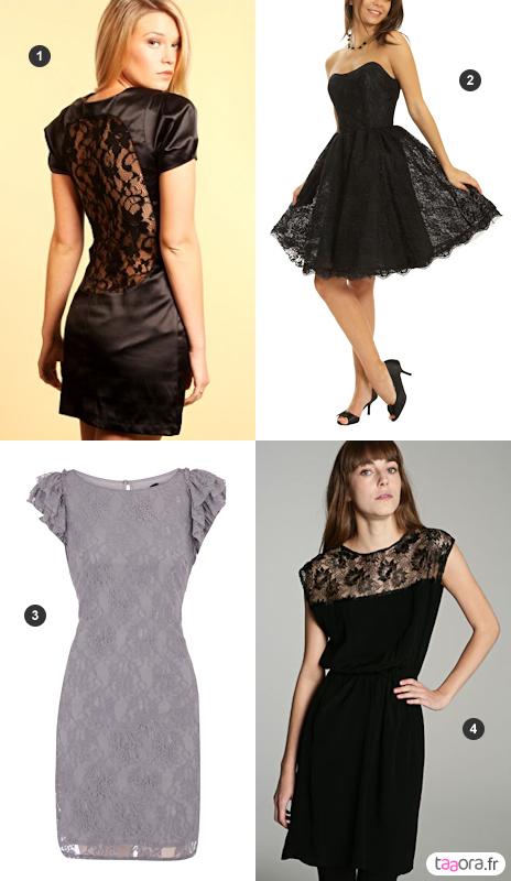 Robes de soiree courte noir dentelle