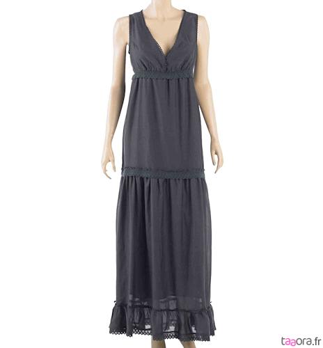 white dresses robe longue blanche camaieu. Black Bedroom Furniture Sets. Home Design Ideas