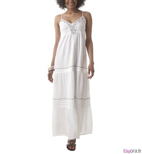 Robe longue blanche blanc du nil