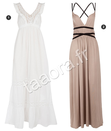 Robe fluide taille empire