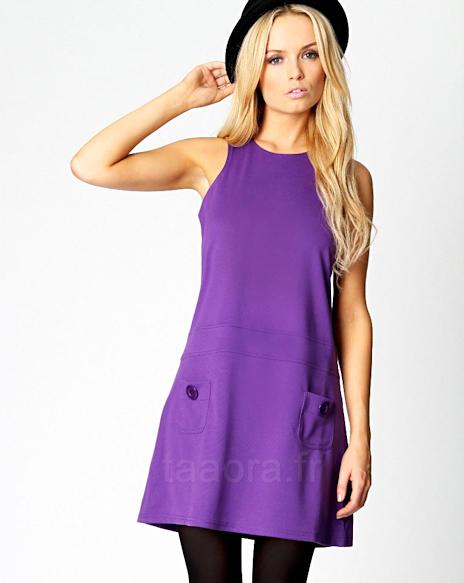 Robe violette hiver