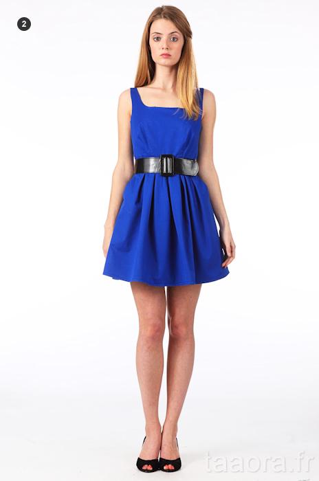 robes l gantes chaussures avec robe bleue electrique. Black Bedroom Furniture Sets. Home Design Ideas