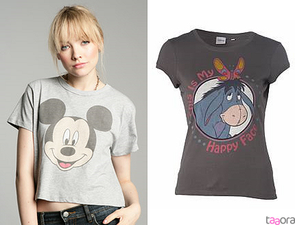 T-shirts Mickey et Bourriquet