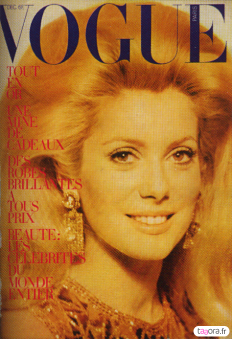 Catherine Deneuve en couverture de Vogue