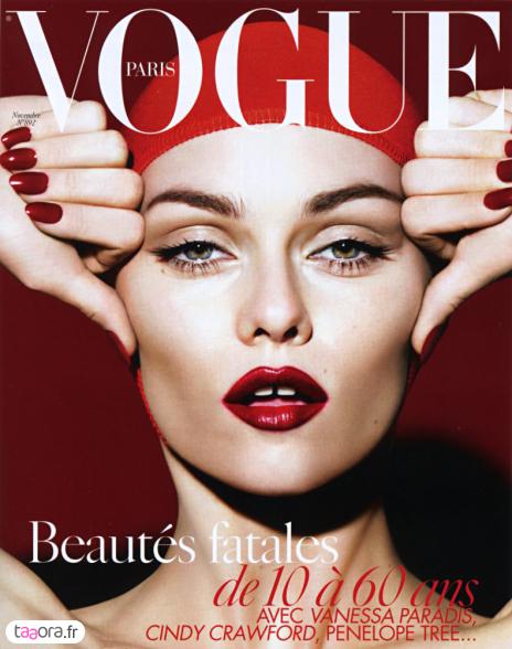 Vanessa Paradis en couverture de Vogue