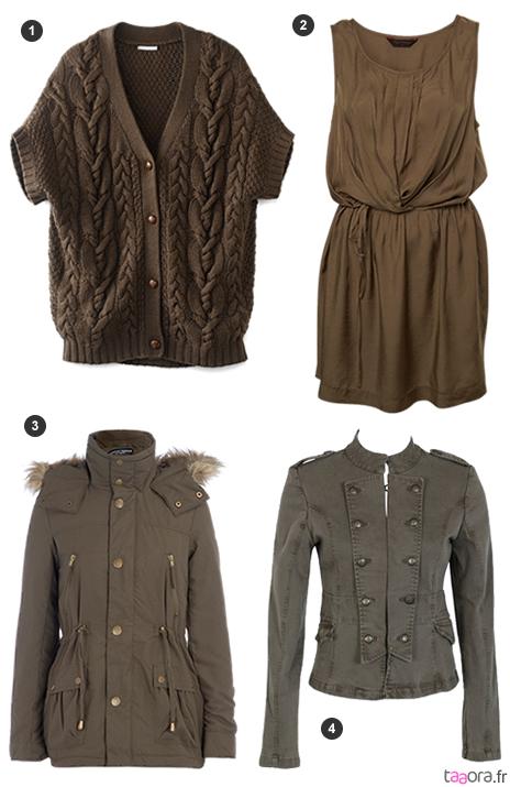 kaki couleur tendance automne hiver 2010 2011 taaora blog mode tendances looks. Black Bedroom Furniture Sets. Home Design Ideas