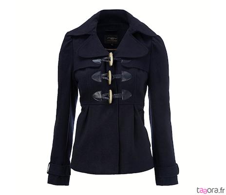 Manteau bleu marine court