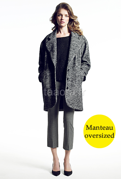 Manteau oversized tendance