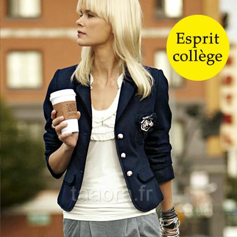 Veste style collège