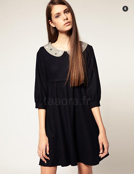 459c3c905d8 On finit notre sélection par cette robe taille empire en laine noire de la  marque Nishe