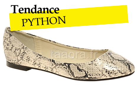 Ballerines python