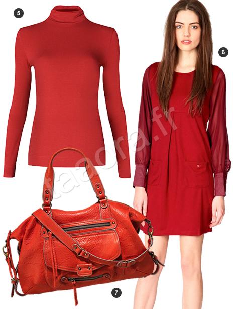 Robe rouge manche longue zara