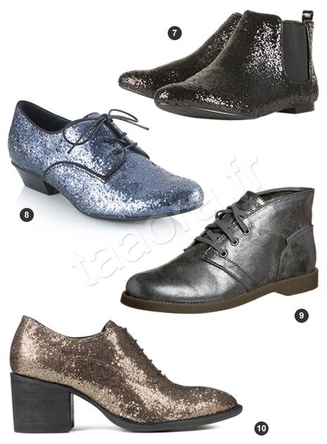 Boots et bottines glitter