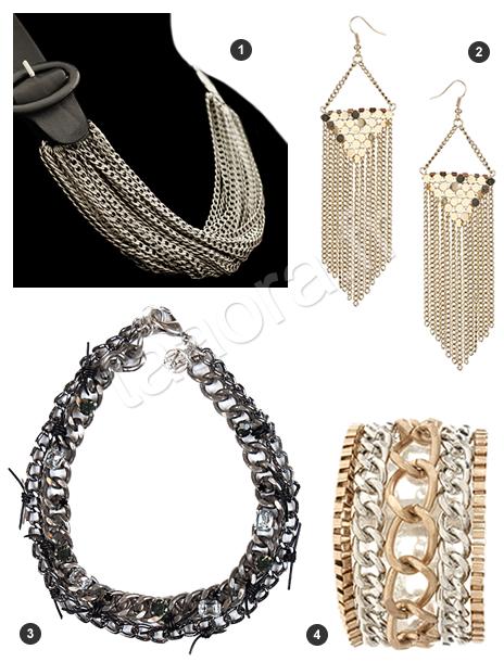 Bijoux chaînes or et argent