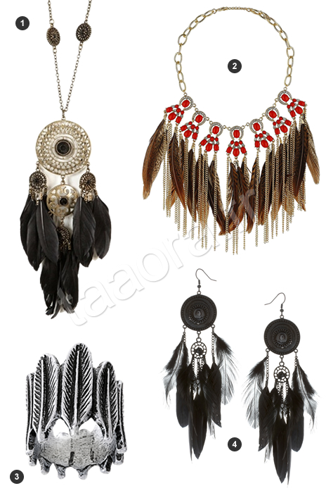 Bijoux plume