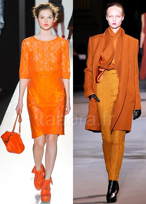Orange couleur Hiver 2012-2013