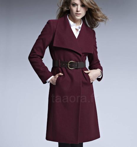 Manteaux et vestes bordeaux aubergine – Taaora – Blog Mode