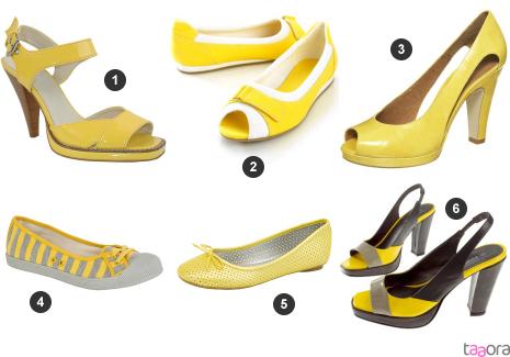 Chaussures jaunes photo