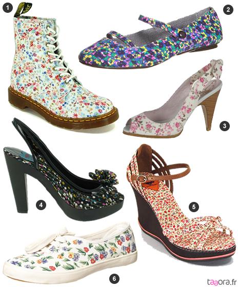 Chaussures imprimé Liberty