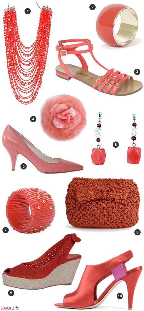 sandales couleur corail avec fleurs