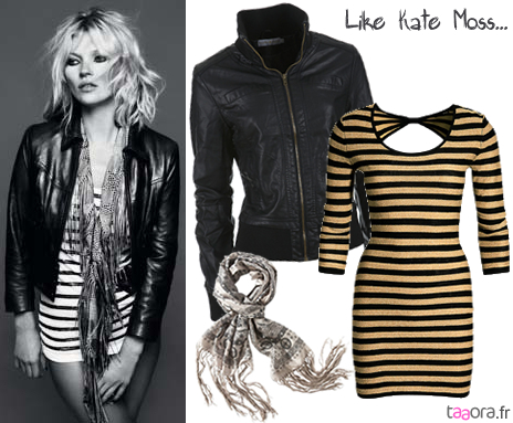 le m me look glam rock que kate moss taaora blog mode tendances looks. Black Bedroom Furniture Sets. Home Design Ideas