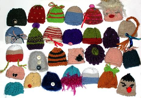 Bonnets et bérets tricotés