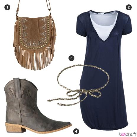 Idee look robe bleu marine